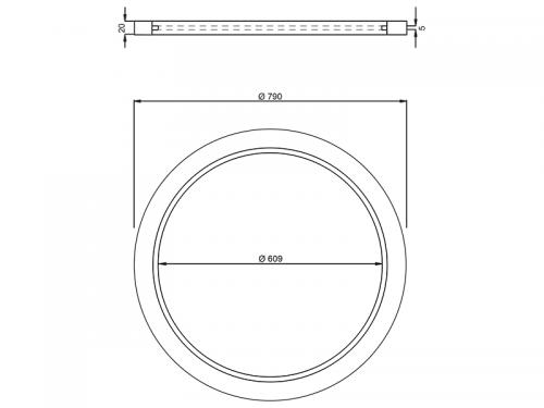STABIFLEX Ausgleichsring Kunststoff DN 600 Zeichnung/Masse