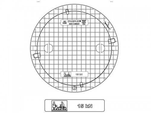 Stabiflex Schachtabdeckung aus Kunststoff NewEdition Teleskop 15kN Zeichnung/Masse