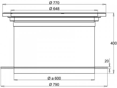 Stabiflex Schachtabdeckung aus Kunststoff NewEdition Teleskop 15kN Zeichnung Seitenansicht