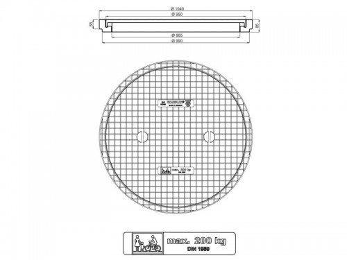 Stabiflex Schachtabdeckung Kunststoff BASIC XXL 200kg Zeichnung/Masse