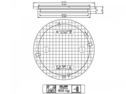 Stabiflex Schachtabdeckung Kunststoff NewEdition 600kg Zeichnung/Masse