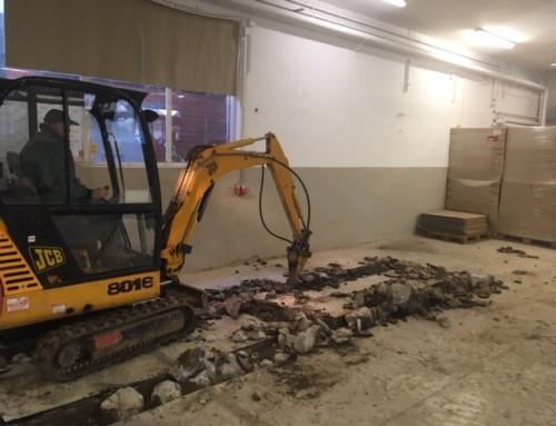 """Die Bauarbeiten in der """"Alten Spritzerei"""" laufen auf Hochtouren!"""